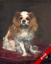 King Charles Spaniel English Toy Ruby Dog Painting Art Real Canvas GicleePrint