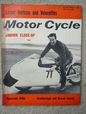MOTOR CYCLE 26.9.63 NORTON VELOCETTE  jm