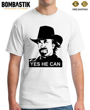 R 0407 YES, CHUCK NORRIS CAN DO IT Hollywood actor parody T-Shirt TOP Quality