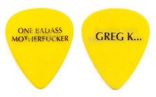 Offspring Greg K One Bad@ss Motherf***er Yellow Guitar Pick - 2000 Tour