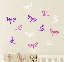 12 MIXED DRAGONFLY Wall Stickers Car Decal Removable  *Any Colour* Baby Nursery