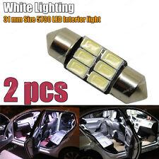 2-pc 5730 LED White Interior Inside Map / Dome Light  Bulb 31MM DE3175 DE3022 E5