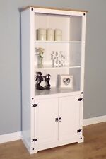 Corona White 2 Door Bookcase by Mercers Furniture