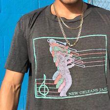 New Orleans Louisiana Vintage 1984 Jazz Trombone Shirt 80s Xl #5Y #Dp