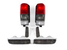 Smoke Tail Lights + Corner Lights + Bumper Lights For 1997-2001 Jeep Cherokee XJ