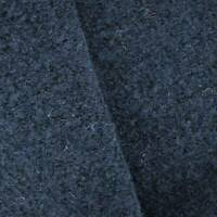 Midnight Navy Blue Wool Blend Boucle Knit Jacketing, Fabric By The Yard