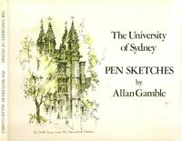 UNIVERSITY OF SYDNEY PEN SKETCHES architecture history new south wales nsw