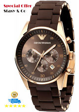 100% Original New Emporio Armani Men's Chronograph Classic Brown Watch AR5890