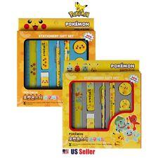 Pokemon Pencil Eraser Ruler School Supply Gift Stationery Set 8pcs (Random)