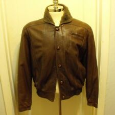 Bally of Switzerland VTG mens Bomber jacket Aviator brown Small size 38 Italy