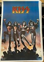 KISS VINTAGE 1976 76 DESTROYER ACE PETER GENE PAUL NOS AUCOIN MGT POSTER N/M