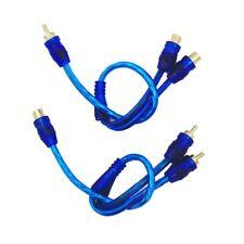 2x Prise Rca Y Câble Diviseur Câble Adaptateur 1 Mâle vers 2 Femelles Voiture FR