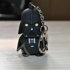 New Star Wars Darth Vader LED Flashlight Sound and Light Keychain Key Ring Black