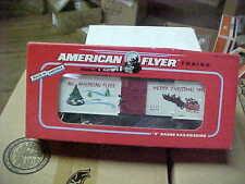 AMERICAN FLYER,,,,,,48321-----1994 CHRISTMAS BOXCAR