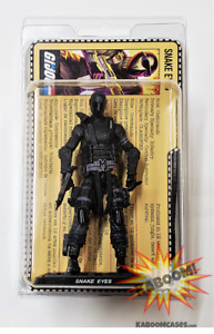 GI JOE action figure and file card protective plastic blister case clamshell 10