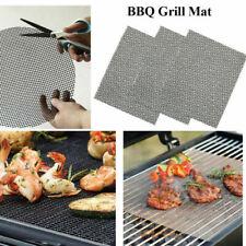 BBQ Grill Mesh Mat Teflon Reusable Sheet Resistant Non-Stick Barbecue Bake Meat