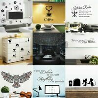 Removable Quote DIY Wall Sticker Art Vinyl Decal Mural Kitchen Decor Home G I6E8