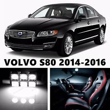 10pcs LED Xenon White Light Interior Package Kit for VOLVO S80 2014-2016