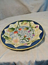 Fitz & Floyd Somerset Plate With Fruit & Flowers