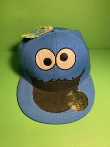 Sesame Street Cookie Monster Cap Hat Adult No Adjustment NWT (b21)