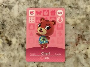WINTER SPECIAL UNTIL GONE!  Cheri 023 Animal Crossing Amiibo Authentic Mint Card
