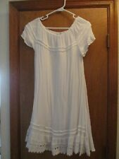 ACE FASHION White Dress Beach Cover Up  Size L