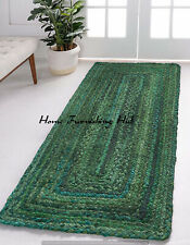 Braided Rug Decor Natural Rug 2 x 6 Ft Cotton Reversible Rustic Runner Handmade