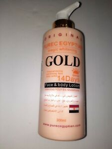 PURE EGYPTIAN MAGIC WHITENING GOLD FACE & BODY LOTION 300ML.spf 20