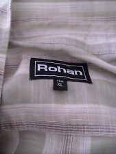 ROHAN SALVADOR SHIRT XL CHECK SHORT SLEEVES HIKING WALKING TRECKING
