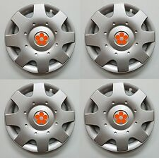 "1998-2009 VW BEETLE 16"" ORANGE DAISY FLOWER Wheelcover Hubcap SET"