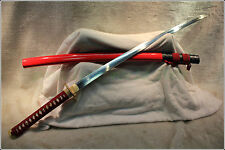 HIGH QUALITY JAPANESE SAMURAI SWORD KATANA FOLDED STEEL BURNING BLADE #33119