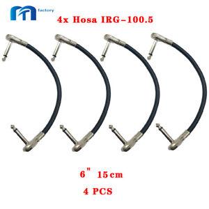 "4x Hosa IRG-100.5 Low Profile Flat Pancake 6""Guitar Patch Cables"