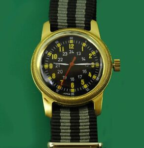US Army A-D Type Ordinance Original Dial Men's USA Military  Vintage Hack Watch
