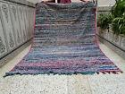 Handmade Vintage Moroccan Berber Rug Beni Ourain Carpet Azilal Tribal Rug