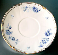 "Wedgwood Ashbury Cream Soup Saucer 7"" Blue Floral Motif Made in UK New"