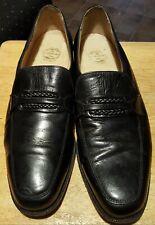 Florsheim loafers black size 9 1/2-D mens EE leather slip on shoes