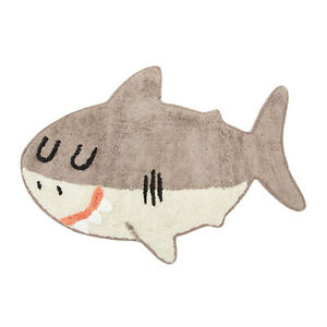 SASS & BELLE Rug Shelby The Shark Cotton Kids Bedroom Nursey Pet