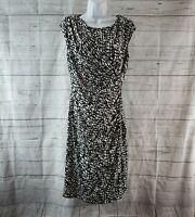 Coldwater Creek Womens Dress Sz 10 Black White Sleeveless