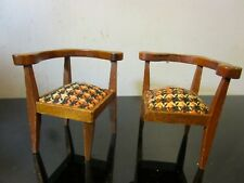 Vintage Dollhouse Miniatures Wooden broken chair lot