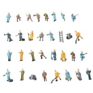 00 Gauge 1:76/1:87 Scale Model Railway Worker People/Figures - Packs of 10