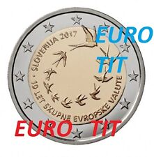 2 €  SLOVENIE  COMMEMORATIVE 2017   LOT  DE  2  X  PIECE   /   2017  DISPONIBLE