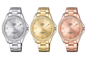 Orologio Donna In Acciaio Q&Q By Citizen Solo Tempo Lady Crystal Pvd Gold Rose