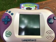 LeapFrog Leapster2 Learning Game System Pink & Purple w/ Case Plus Game Tested
