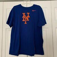 NIKE NY Mets graphic tee shirt sleeve blue orange size XXL