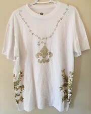 Nu_Skool 2XL White Graphic Gangster Shirt 100% Cotton