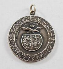 Vintage Ornate Italian Air Force Silver Award Medal