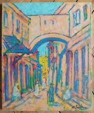 Nathan Gutman huile sur toile signée Judaica Art Ecole de Paris Orientalisme