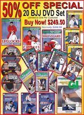 20 Brazilian Jiu Jitsu DVD Set - Special 50% OFF $499.99 Now Only $249.50