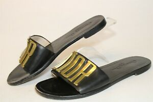 Christian Dior Italy Made HB1722-1 Womens 37 7 Monogram Slides Flats Shoes