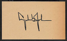 Lyndon B. Johnson LBJ Autograph Reprint On Genuine 1960s 3x5 Card